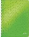 Leitz WOW cahier, ft A4, ligné, vert