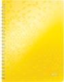 Leitz WOW schrift ft A4, geruit, geel