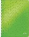 Leitz WOW cahier, ft A4, quadrillé, vert