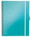 Leitz WOW schrift Be Mobile, ft A4, gelijnd, ijsblauw
