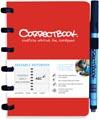 Correctbook A6 Original: cahier effaçable / réutilisable, ligné, rouge
