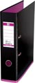 OXFORD MyColour classeur, format A4, en carton, dos de 8 cm, noir-rose