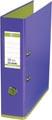 OXFORD MyColour classeur, format A4, en carton, dos de 8 cm, violet-vert clair