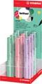 STABILO beYou! beFab! vulpen, medium, 0,5 mm, display van 12 stuks in geassorteerde pastelkleuren