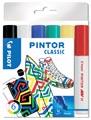 Pilot Pintor Classic marqueur, moyen, blister de 6 pièces en couleurs assorties