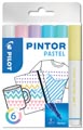 Pilot Pintor Pastel marqueur, fine, blister de 6 pièces en couleurs assorties