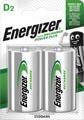 Energizer piles rechargeables Power Plus 2500 D, blister de 2 pièces