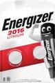 Energizer knoopcel CR2016, blister van 2 stuks