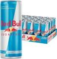 Red Bull boisson énergisante, sugarfree, cannette de 25 cl, paquet de 25