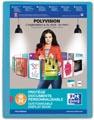 OXFORD Polyvision personaliseerbare presentatiealbum, formaat A4, uit PP, 20 tassen, blauw