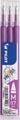 Pilot vulling voor Frixion Ball en Frixion ball clicker paars, doosje met 3 stuks