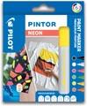 Pilot Pintor marqueur, pointe moyenne, blister de 6 pièces en couleurs assorties néon