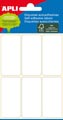 Apli witte etiketten ft 26 x 54 mm (b x h), 36 stuks, 6 per blad (2681)