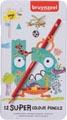 Bruynzeel crayon de couleur Super, boîte de 12 pièces