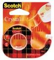 Scotch ruban adhésif Crystal, ft 19 mm x 7,5 m, blister avec 1 dérouleur et 1 rouleau