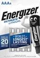 Energizer batterijen Lithium AAA, blister van 4 stuks