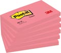 Post-it Notes, ft 76 x 127 mm, neonroze, blok van 100 vel