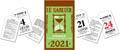 Bloc éphéméride Le Sablier 2021