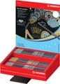 STABILO Pen 68 metallic viltstift, display van 60 stuks in 5 geassorteerde kleuren