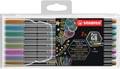 STABILO Pen 68 metallic feutre, étui de 8 couleurs