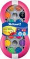 Pelikan boîte de peinture goache Space, 24 godets en couleurs assorties + tube de blanc, magenta
