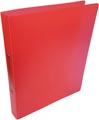 Alpha classeur à anneaux, pour ft A4, en PP, 2 anneaux de 25 mm, rouge tranparent