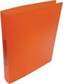 Alpha classeur à anneaux, pour ft A4, en PP, 2 anneaux de 25 mm, orange tranparent