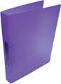 Alpha classeur à anneaux, pour ft A4, en PP, 2 anneaux de 25 mm, violet tranparent