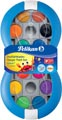Pelikan boîte de peinture goache Space, 12 godets en couleurs assorties + tube de blanc, bleu