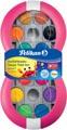 Pelikan boîte de peinture goache Space, 12 godets en couleurs assorties + tube de blanc, magenta