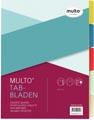 Multo tabbladen ft A4, 2-, 4- en 23 gaatsperforatie, geassorteerde kleuren per set