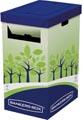 Bankers Box Corbeille à recyclage haute, carton certifié FSC