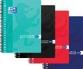 Oxford collegeblok, geassorteerde kleuren, ft A4+, 80 vel, geruit 10 mm