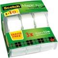 Ruban invisible Scotch Magic, 2rouleaux, 19mmx7,5m, 1 gratuit sur le dévidoir manuel