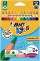Bic crayon de couleur Ecolutions Evolution Triangl 12 crayons en étui cartonné
