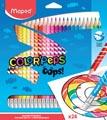 Maped crayon de couleur Color'Peps Oops, 24 crayons en étui cartonné