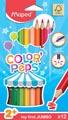 Maped crayon de couleur Color'Peps Jumbo Early Age, étui cartonné de 12 crayons