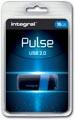 Integral Pulse USB 2.0 stick, 16 GB, zwart/blauw