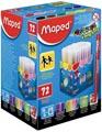 Maped Viltstift Color'Peps 72 stiften in een kartonnen doos (classpack)