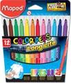 Maped Feutre Color'Peps 12 feutres en étui cartonné