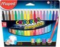 Maped Feutre Color'Peps 18 feutres en étui cartonné