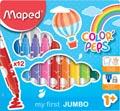 Maped feutre Color'Peps Jumbo Early Age, étui de 24 pièces de couleurs assorties