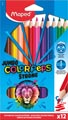 Maped crayon de couleur Color'Peps Jumbo Strong, 12 crayons en étui cartonné