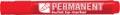 Crown permanent marker, ronde punt, schrijfbreedte 1 - 3 mm, rood