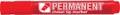 Crown permanent marker, schuine punt, schrijfbreedte 1 - 3 mm, rood