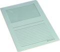 Pergamy pochette coin à fenêtre, paquet de 100 pièces, bleu clair
