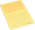 Pergamy pochette coin à fenêtre, paquet de 100 pièces, jaune clair