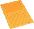 Pergamy pochette coin à fenêtre, paquet de 100 pièces, orange