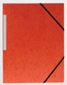 Pergamy elastomap 3 kleppen oranje, pak van 10 stuks