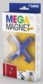 Dahle Mega Magnet Cross, aimant Néodyme, forme de croix, bleu